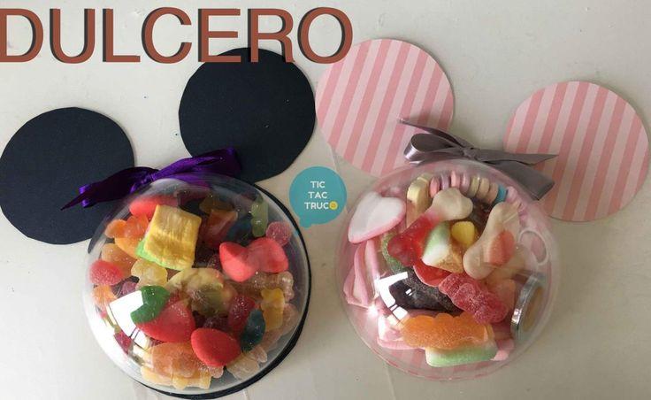 Preparar estos bonitos dulceros inspirados en Mickey y Minnie Mouse es muy fácil y a los niños les encantará. ¡No te lo pierdas!