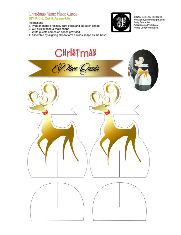 Best Printables Images On Pinterest A Card Stock And Carton Box - Card template free: free printable christmas table place cards template