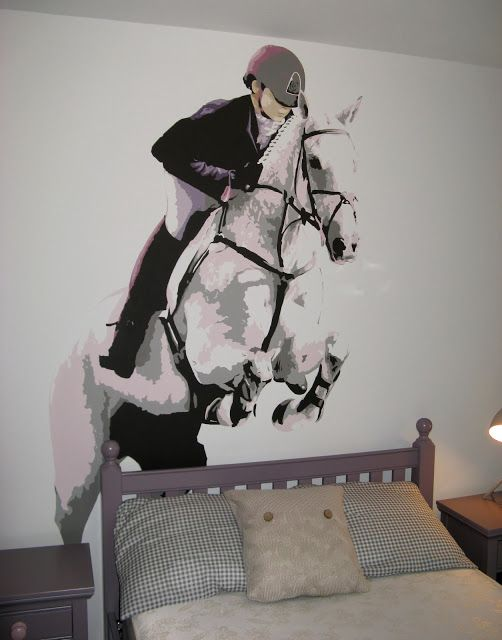 Best 25 horse mural ideas on pinterest horse bedrooms for Bedroom ideas for horse lovers