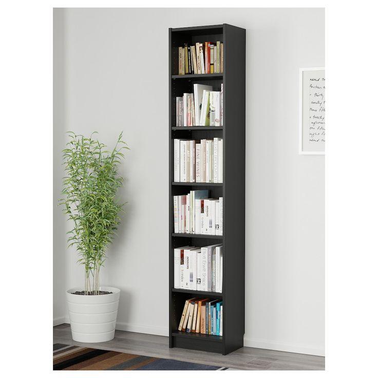 "BILLY Bookcase, black brown, 15 3/4x11x79 1/2""   IKEA in ..."