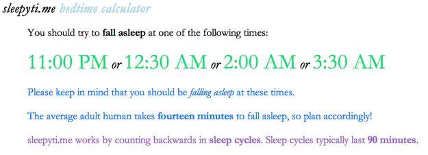 Sleepy Ti.me helps you regulate your sleep cycle. | 32 Amazingly Useful Websites Every Woman Needs To Bookmark