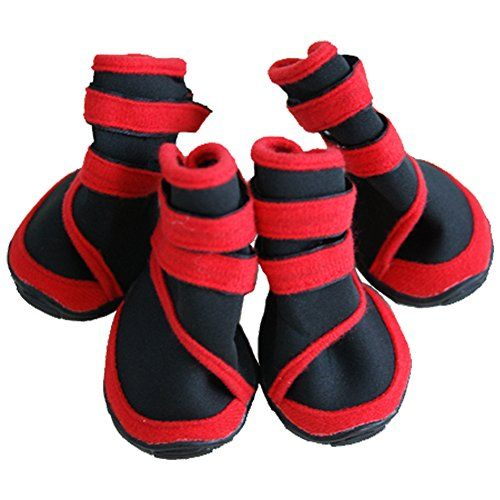 Treat Me Waterproof Anti-slip Dog Boots Wear-resisting Diving Suit Fabric Pet Shoes for Outdoor Walking(L,Red) - http://scuba.megainfohouse.com/treat-me-waterproof-anti-slip-dog-boots-wear-resisting-diving-suit-fabric-pet-shoes-for-outdoor-walkinglred/
