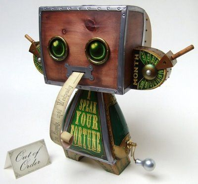 Super Punch: Custom Steampunk Fortune Teller Vinyl Toy By Doktor A - Loving Doktor A's toys!