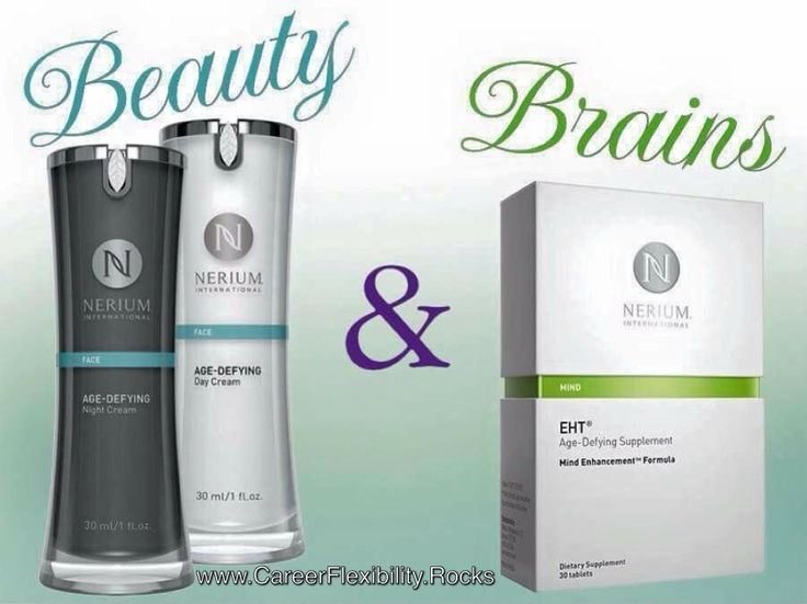 Nerium International Offering exclusive, patented anti-aging brain and anti-aging skin products that are supported by the scientific and medical communities For optimal brain health, place your order for EHT at www.BrainHealth.Rocks To become a Nerium Brand Partner, complete and submit your enrollment information at saradbryan.nerium.com