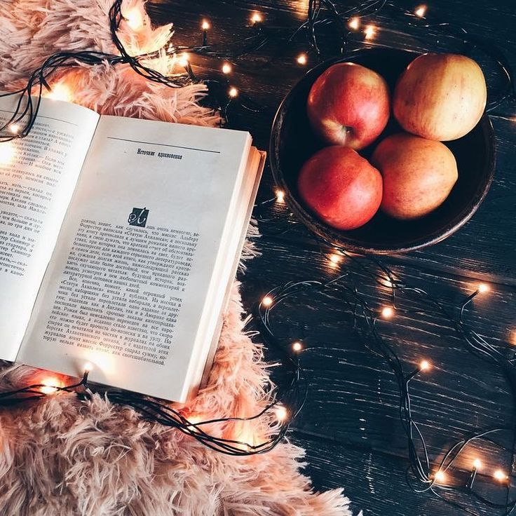 Good books and the apples keep your mind and body in shape
