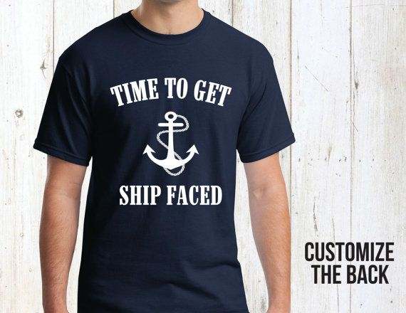 Group Ship Faced Bachelor Party Shirt Custom Nautical by Eventees
