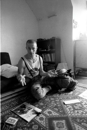 A series of intimate photographs of punk and skinhead gangs from the 1980s