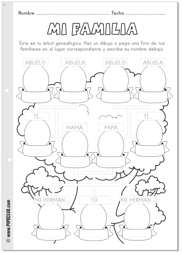 15 best Spanish Family Unit images on Pinterest | Spanish classroom ...