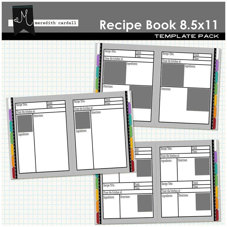 1000  ideas about cookbook template on pinterest