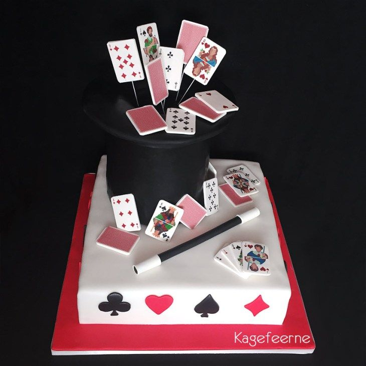 Tryllekage til konfirmand der elsker korttrick og trylleri - Magic cake for Confirmed who loves card tricks and magic