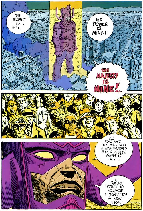 """Silver Surfer: Parable by Stan Lee and Jean """"Moebius"""" Giraud - Best Surfer story ever? Best Surfer story ever."""