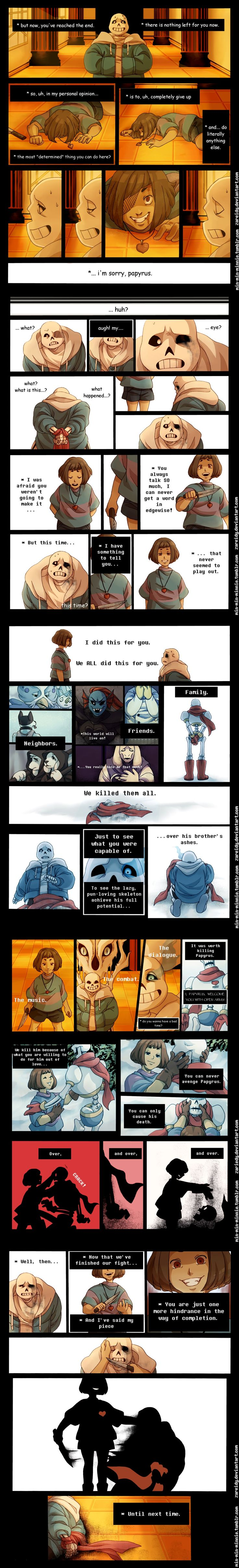 Sans, Chara, and the truth -- Undertale