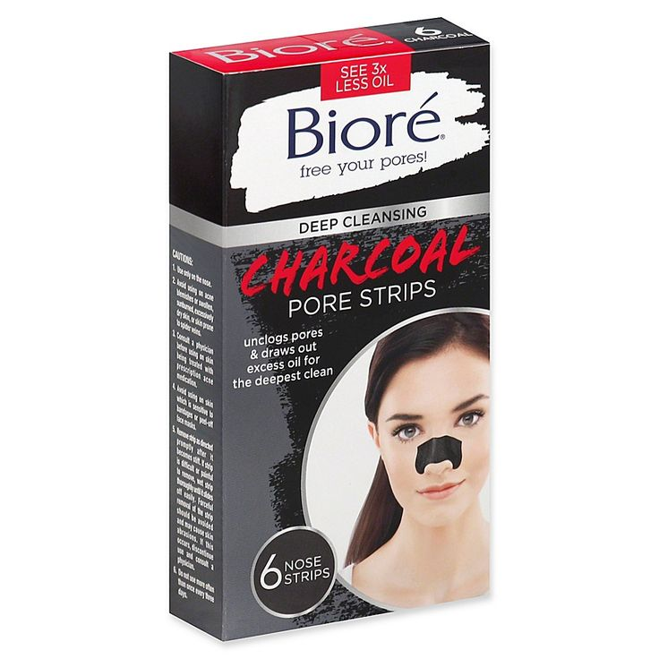 Biore 6count charcoal nose strips nose strips pore