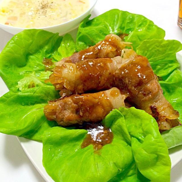 久々に大根巻き☆豚バラがなかったので今日は豚こまで(^-^)/ - 14件のもぐもぐ - 豚こま大根巻き、野菜スープ by kanchan122