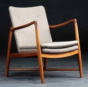 Finn Juhl. Easy chair, 'Kaminstol,' model BO59