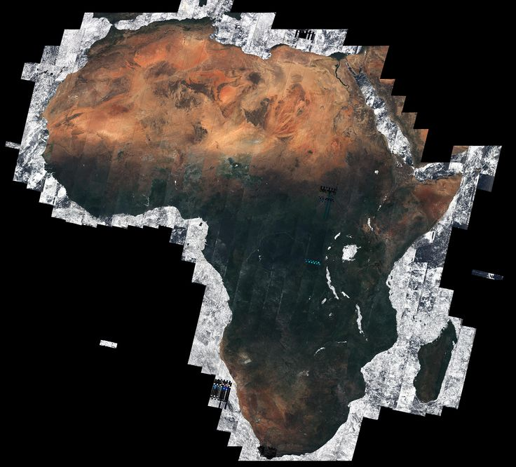 Mosaic of Africa using over 7000 satellite