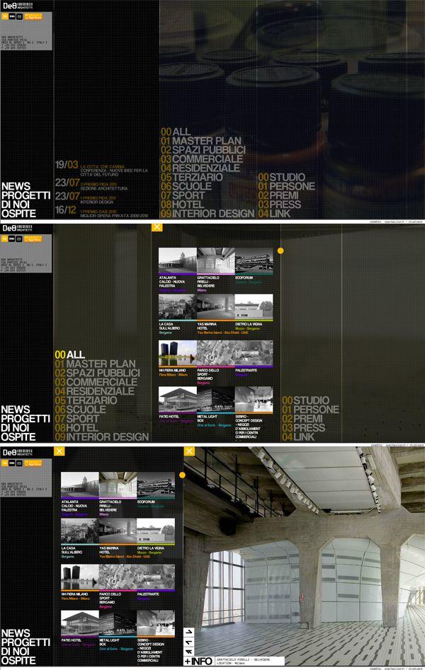 Sito web per lo studio di architettura #de8architetti grafica di #spectacularch!