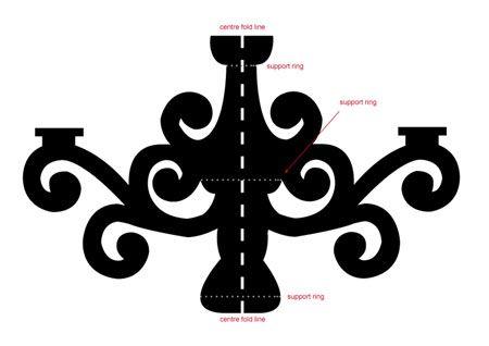 Home-Dzine - Make a cardboard chandelier