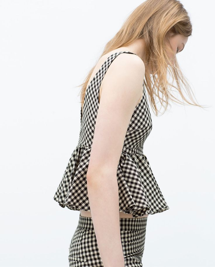 Image 3 of GINGHAM TOP from Zara