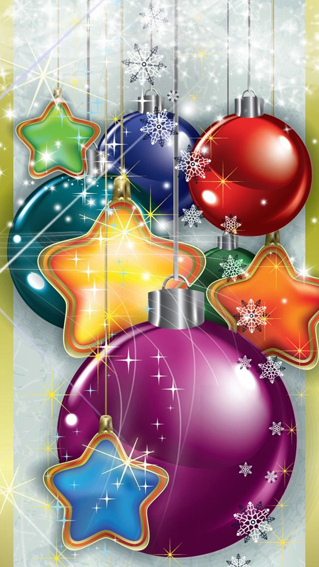 Sparkling Christmas iPhone Wallpaper