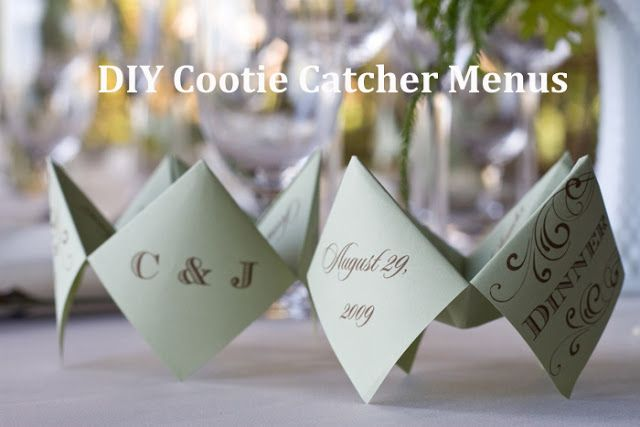 {DIY} Cootie Catcher Wedding Menus - Oh Lovely Day