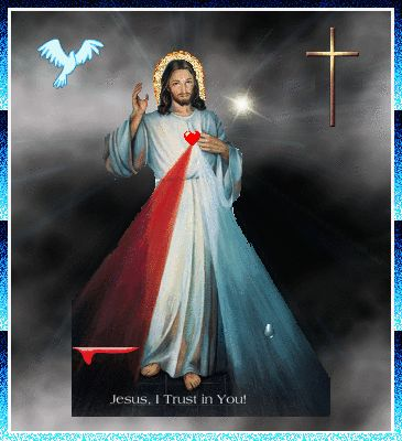 "The Divine Mercy Image:   ""Paint an image according to the pattern you see, with the signature: ""Jesus, I trust in You"". I desire that this image be venerated, first in your chapel, and then throughout the world. I promise that the soul that will venerate this image will not perish."""