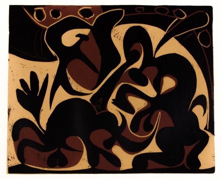 Pablo Picasso, The Picador (1962)   #linocut #art #artmarket #limitededition #artistoftheday #fineart #buyart #picasso #cubism