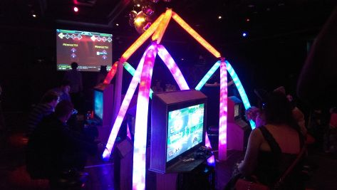 This light sculpture is constructed from 250 reused milk bottles. Made here for Neko Nation Party 2014 in Sydney