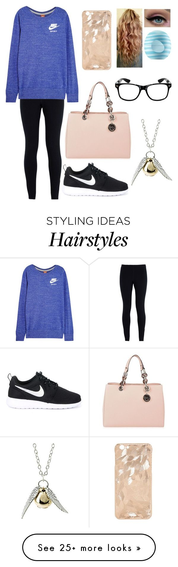 """""""To the world you may be one person; but to one person you may be the world."""" by blessed-with-beauty-and-rage on Polyvore featuring moda, NIKE, MICHAEL Michael Kors, Eos, women's clothing, women, female, woman, misses e juniors"""