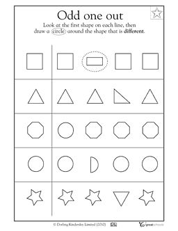 Which geometric shape is different? - Worksheets & Activities | GreatSchools
