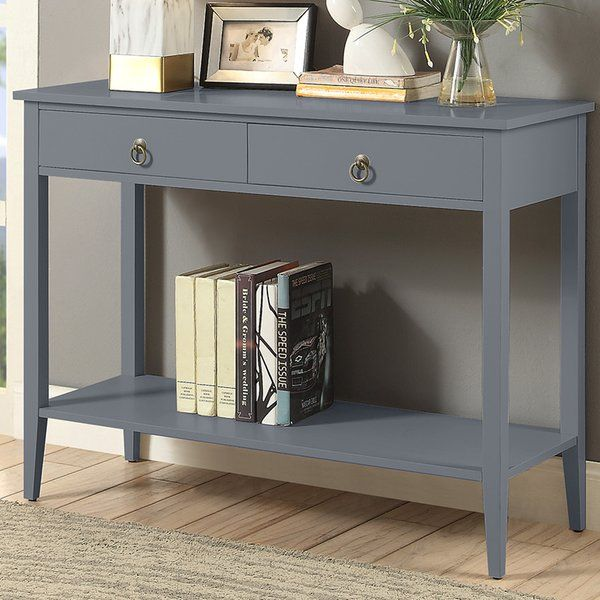 Bring A Decorative Touch To Any Room In Your Home The Clean Lines And Simple Silhouette Of This Console Ta Console Table Blue Console Table Wood Console Table
