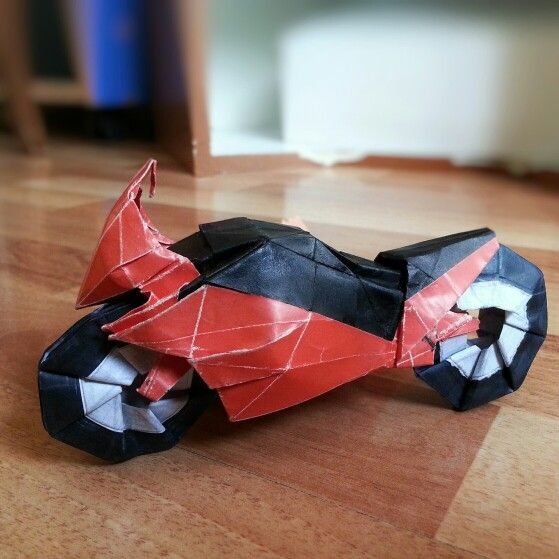 Motorcycle origami (pelin's free red soul) by 'delice'