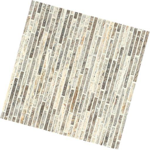Mosaic marble bullets pyramid silver