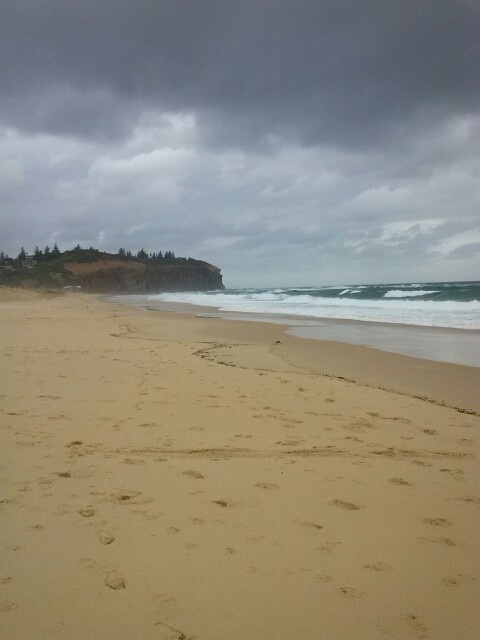Redhead Beach on a cold day.