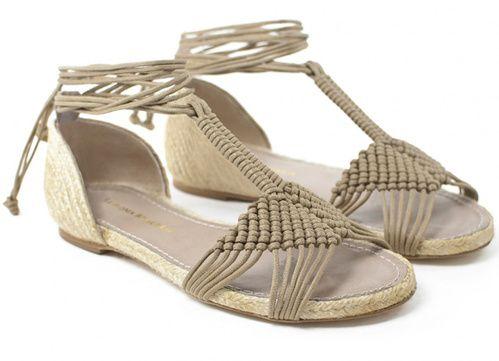 Sandales espadrilles en macramé, corde et jute, Paloma Barceló,