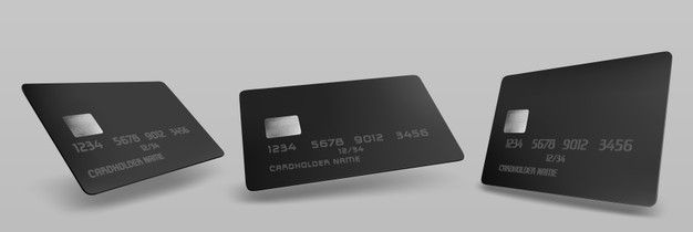 Download Black Credit Card Mockup Isolated Blank Template With Chip On Grey For Free Plastic Card Credit Card Templates