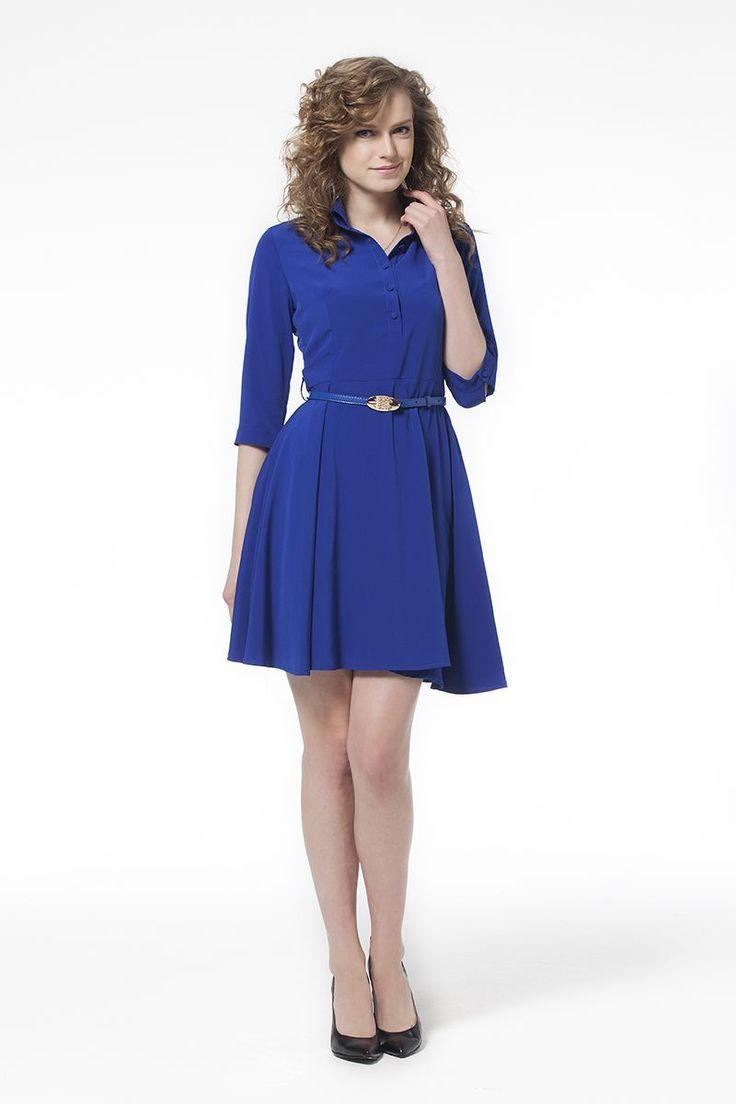 Kemerli Elbise Mavi Kemerli Mavi Elbise Elbise En Trend Elbiseler 79,90 TL