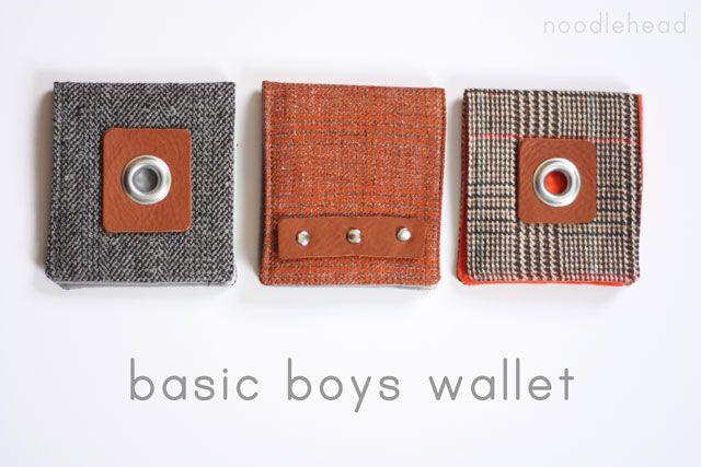 Noodlehead: celebrate the boy tutorial: basic boys wallet