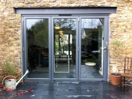 Our competition winner's Bifold Doors - 3 leaf.