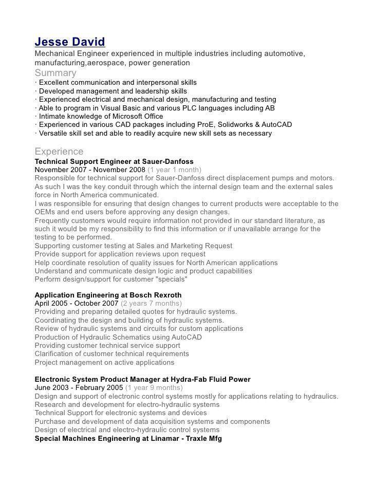 Mechanical Design Engineer Resume Uncommon Sample Resume Download For Mechanical Engineer Of Engineering Resume Job Resume Samples Mechanical Engineer Resume