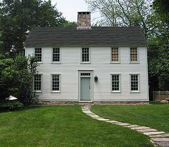 "Saltbox House Interiors   1727 Restored ""Saltbox"" for Rent in Westport, Connecticut"