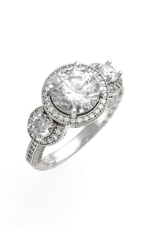 1000 Ideas About Three Stone Rings On Pinterest