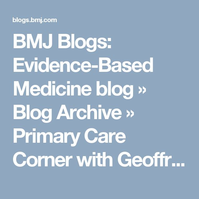 BMJ Blogs: Evidence-Based Medicine blog  » Blog Archive   » Primary Care Corner with Geoffrey Modest MD: Chlorthalidone is Better Than HCTZ for Hypertension