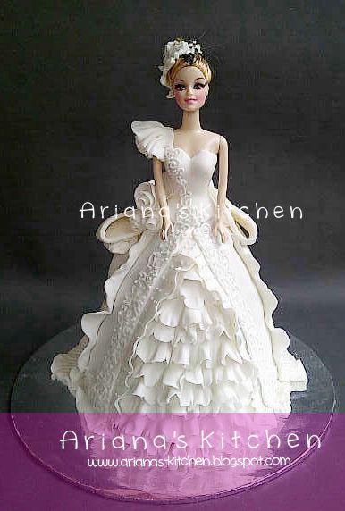 Ariana's Kitchen: wedding barbie cake for henny