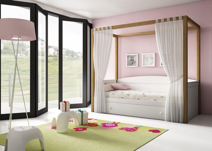 Детская кровать с балдахином от испанской фабрики Artemader SPRING 339.542