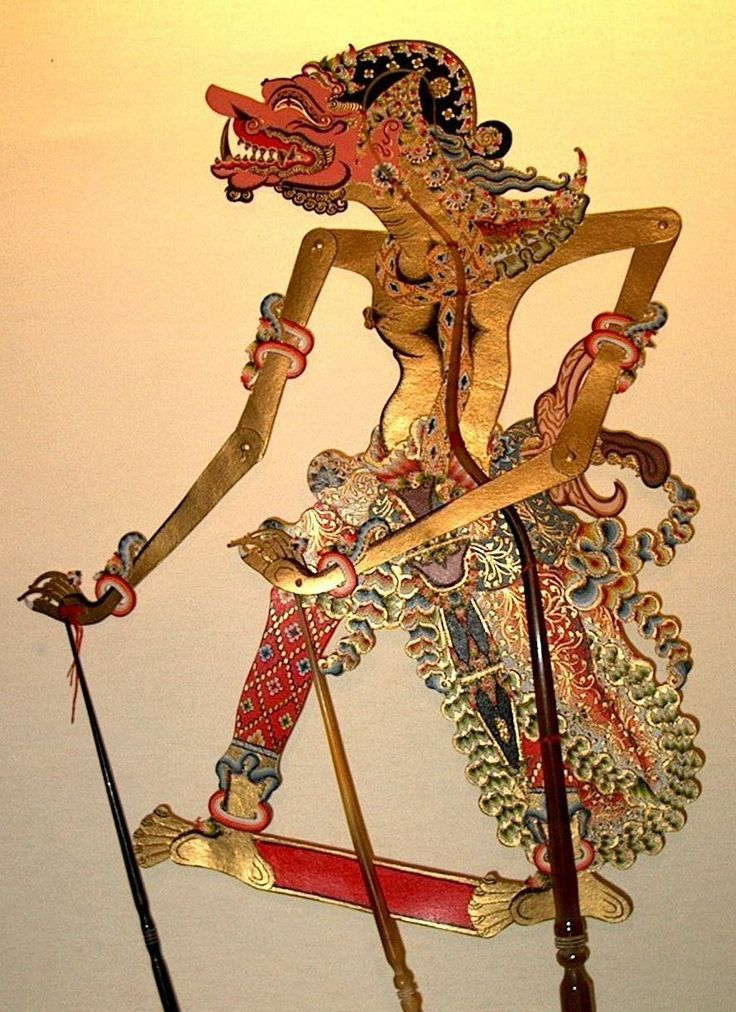 BUTO CAKIL (Cakil Giant) in Wayang Kulit (leather puppet)