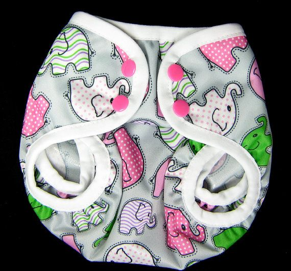 PUL Cloth Diaper Cover for Baby Girl Pink by SwaddleinCloth