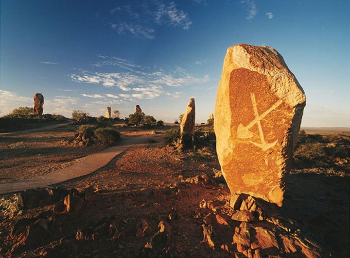 Twelve monolith were created for Broken Hill by invited artists in 1993.
