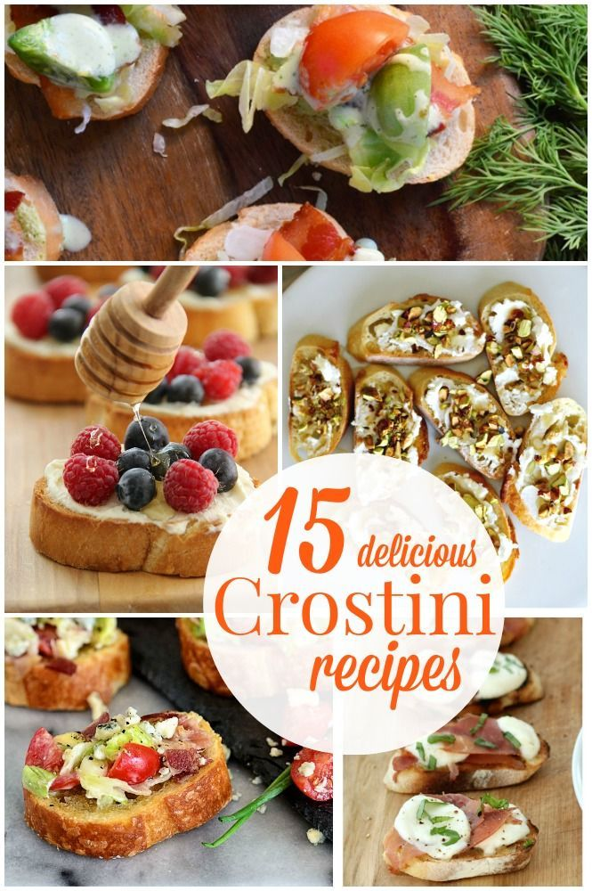 15 Delicious Crostini Recipes featured on The Lilypad Cottage