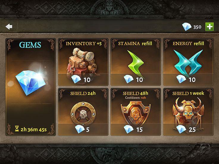 Dungeon Hunter 5 Shop IAP by Panperkin